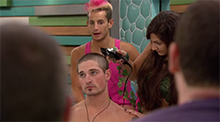 Caleb shaved head Big Brother 16